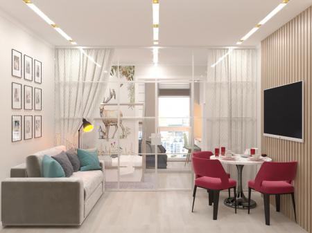 Дизайн квартиры 29 кв.м.