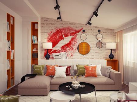 Дизайн-проект мансардной квартиры, Крым