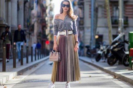 С чем носить плиссированную юбку: модные образы и тренды (50 фото)