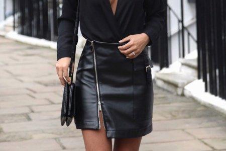 Кожаные юбки 2021: модные тренды и новинки (50 фото)