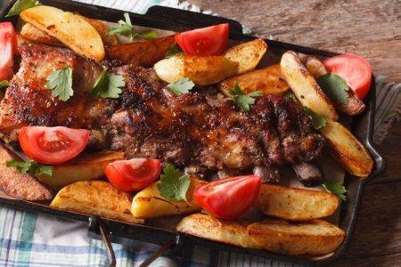 12 крутых рецептов свиных ребрышек с картошкой в духовке