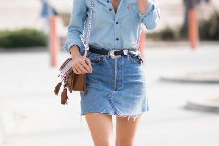 Джинсовые юбки 2021: модные тренды и новинки (50 фото)