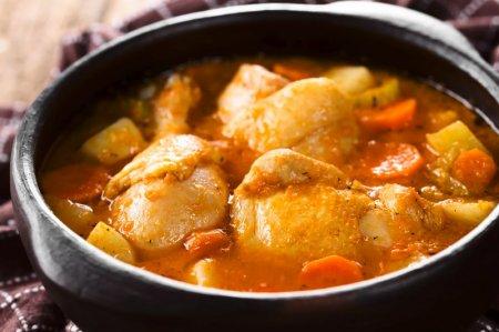 20 простых рецептов тушеной картошки с курицей