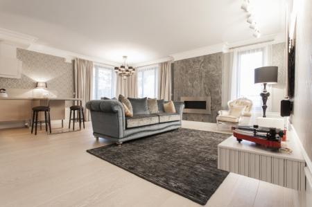 Интерьер квартиры 132 м2 в резиденции Kajetanka