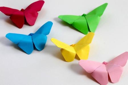 7 легких схем, как сделать бабочку из бумаги