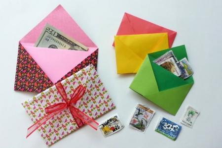 9 простых идей, как сделать конверт из бумаги A4