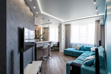 Интерьер кухни-гостиной «Turquoise Breeze»