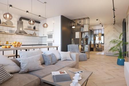 Дизайн квартиры «Скандинавский лофт»