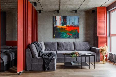 Квартира-студия 43 м2 в стиле лофт, Краснодар