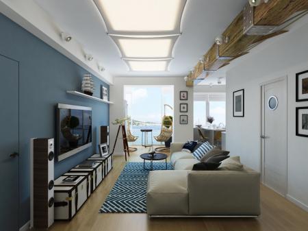Квартира в морском стиле