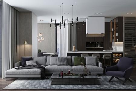Стильная квартира в Нью-Йорке, 142 кв.м.