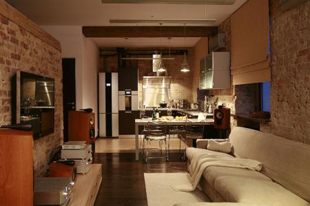 Интерьер квартиры-студии «Жизнь в стиле лофт»
