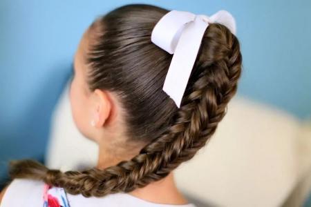 Легкие прически в школу самой себе за 5 минут: пошаговые фото