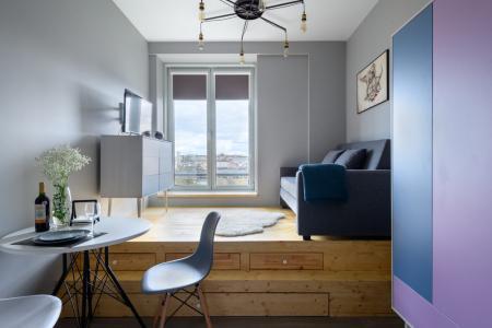 Интерьер маленькой квартиры-студии для студента
