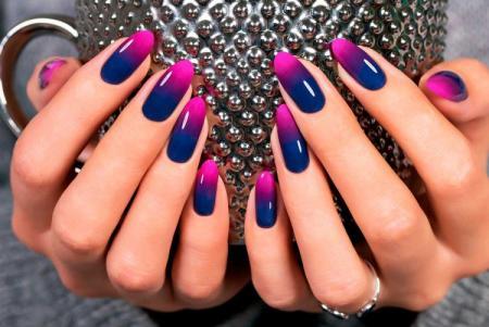 Омбре на ногтях: красивые идеи маникюра (60 фото)