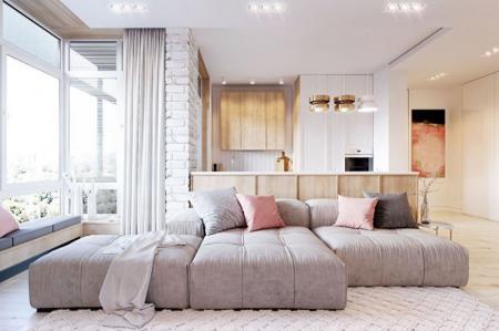 Pink & White: Квартира в скандинавском стиле