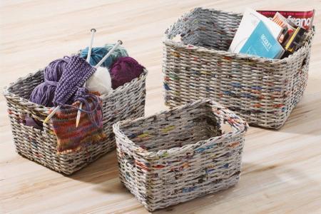 Плетение из газетных трубочек для начинающих: 5 идей