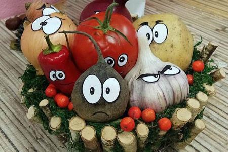 Поделки из овощей для детского сада: 10 красивых и легких идей