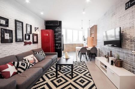 Прямоугольная комната: идеи дизайна (80 фото)