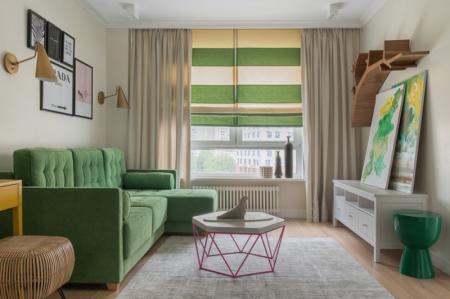 Римские шторы в интерьере: 100 идей дизайна (фото)