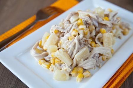 Салат с курицей и ананасом: 12 вкусных рецептов приготовления