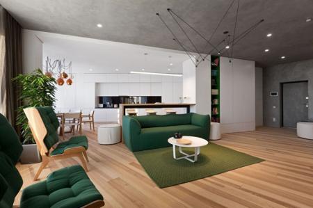 Skyline: Дизайн квартиры в стиле минимализм