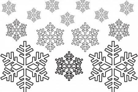 Трафареты снежинок на Новый год 2021 для вырезания (фото)